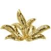 Motif Sequin/beads Leaf Gold 17x11cm